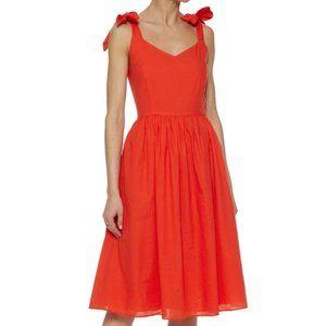 IRIS & INK Orange Knee Length Dress Bows 8 Summer